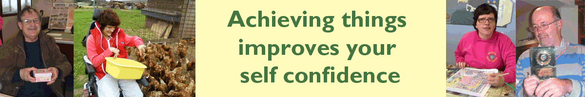Achieving things improves your self confidence